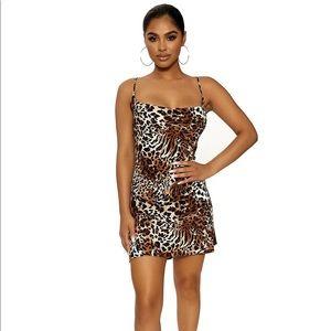 Naked Wardrobe Wild Love Mini Dress S